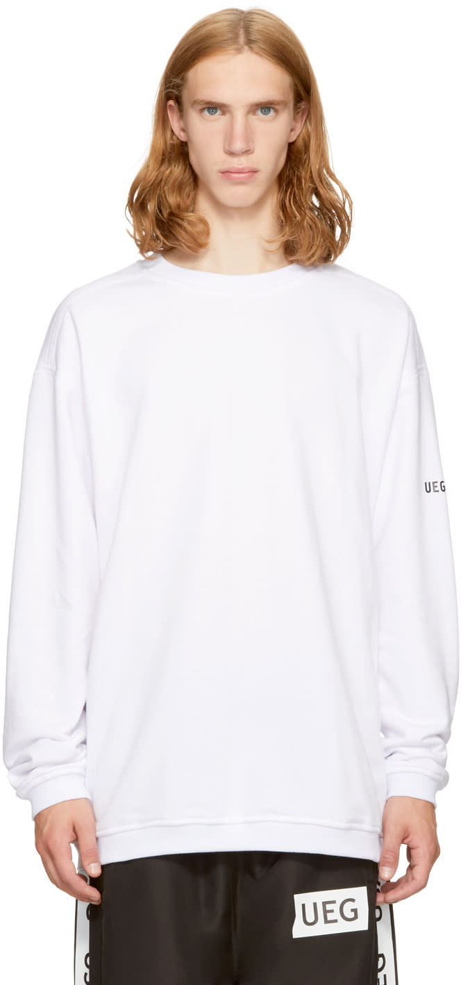 Image of Ueg White Eagle Crew Sweatshirt