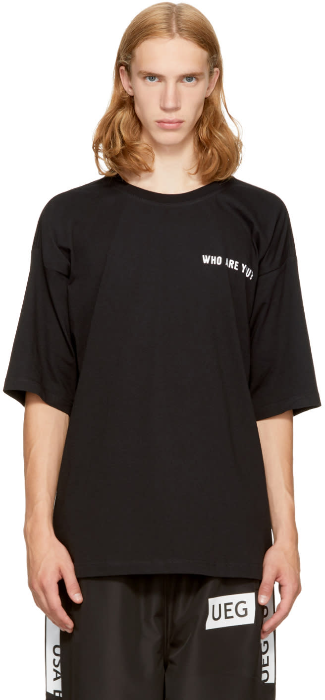Image of Ueg Black Oversized dissenter T-shirt
