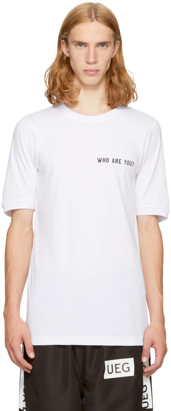 Image of Ueg White foreign T-shirt