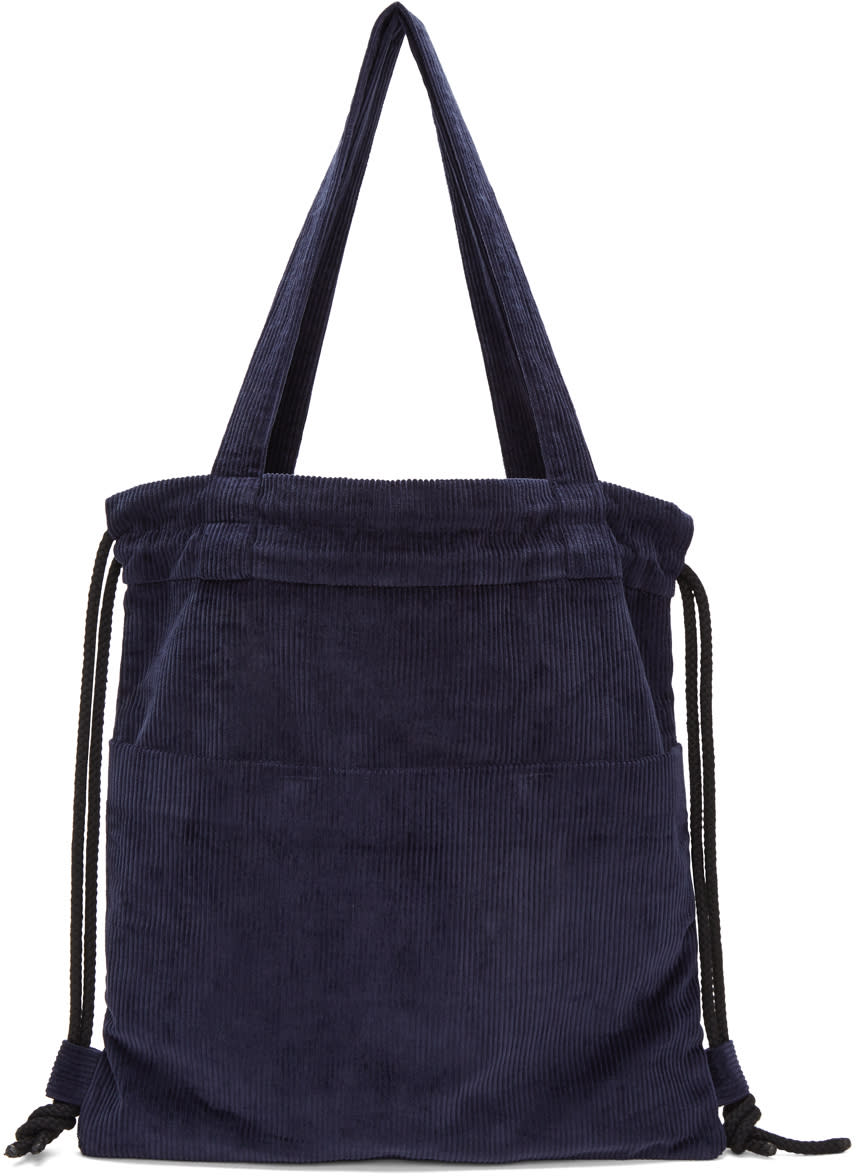 Image of Phoebe English Navy Convertible Canvas Tote
