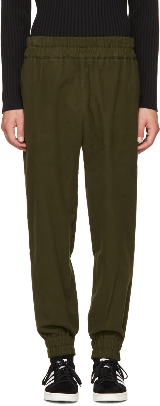 Image of Phoebe English Green Jogger Lounge Pants