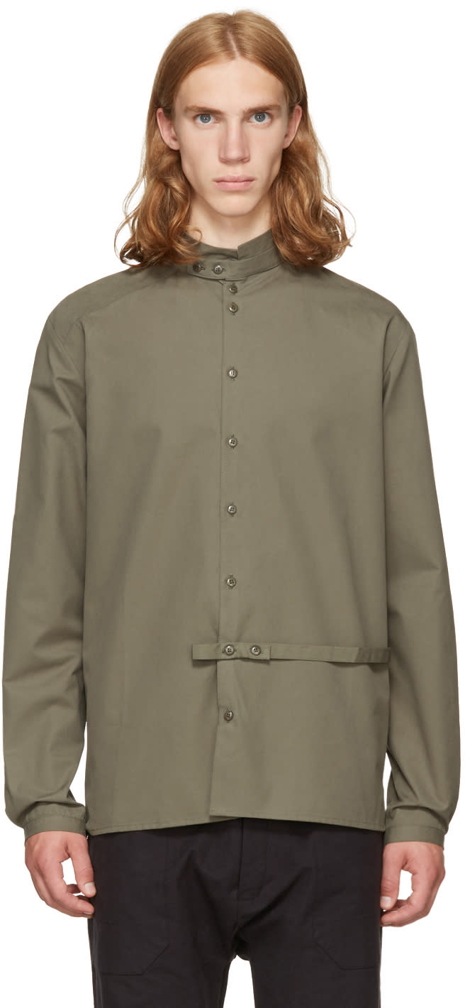 Image of Phoebe English Green High Collar Shirt