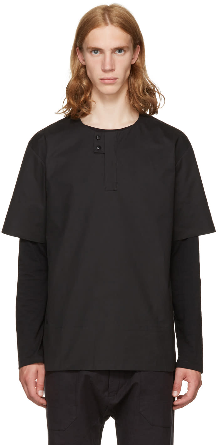 Image of Phoebe English Black Double Button Shirt