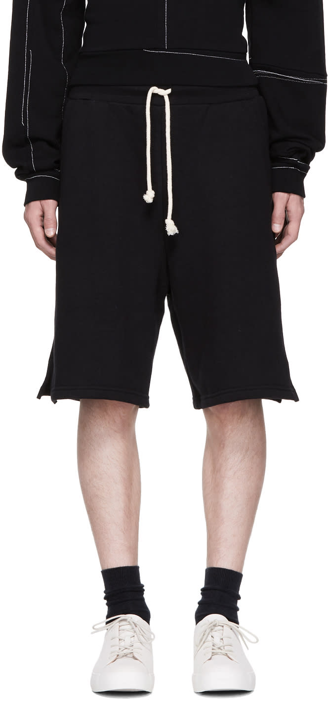 Image of John Elliott Black Oversized Shorts