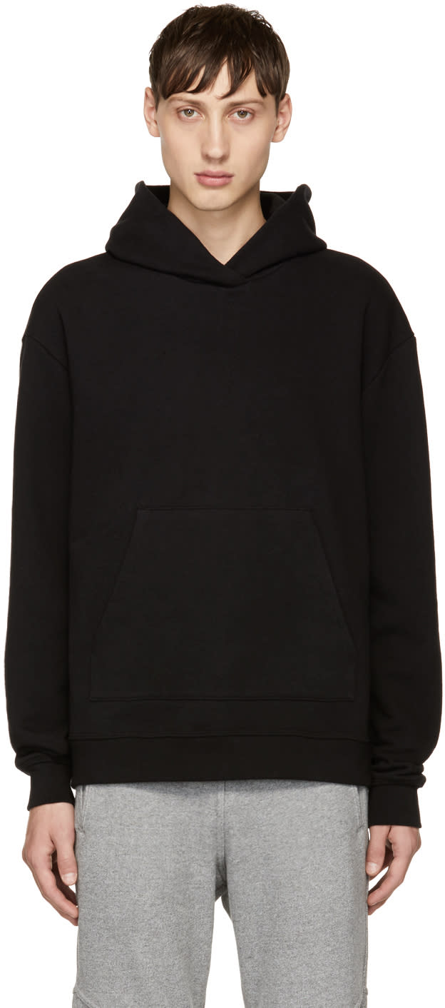 Image of John Elliott Black Oversized Cropped sacrifice Hoodie