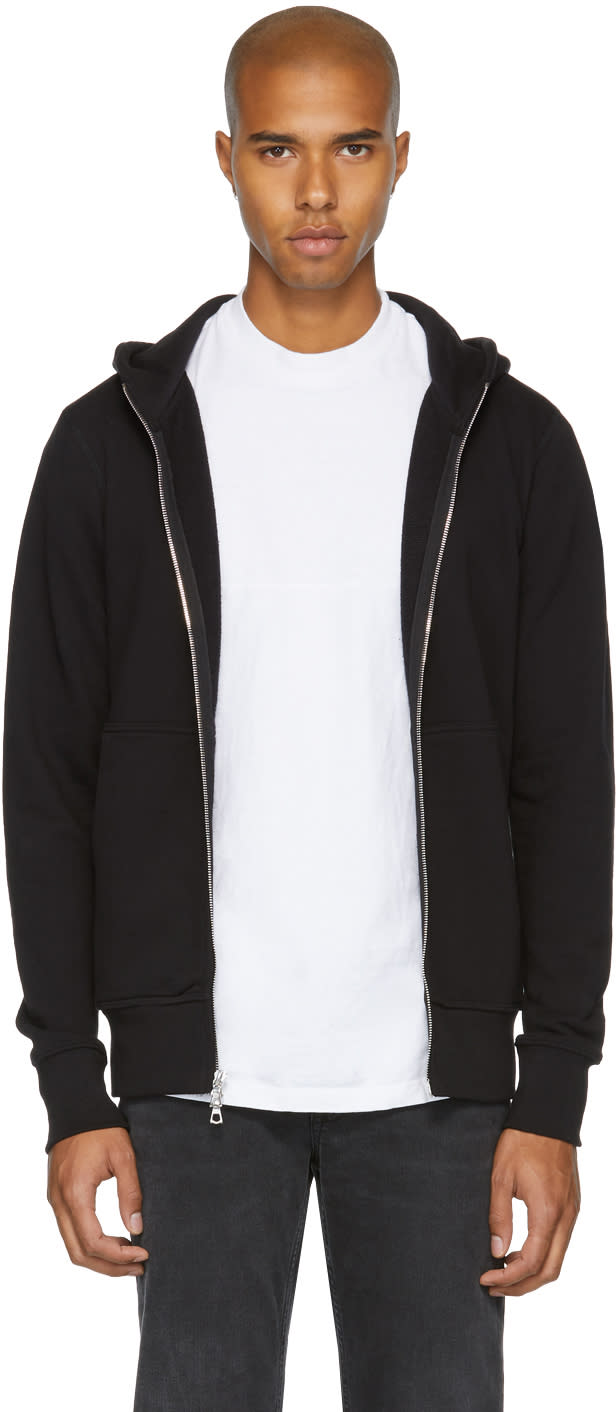 Image of John Elliott Black Flash Dual Zip Hoodie