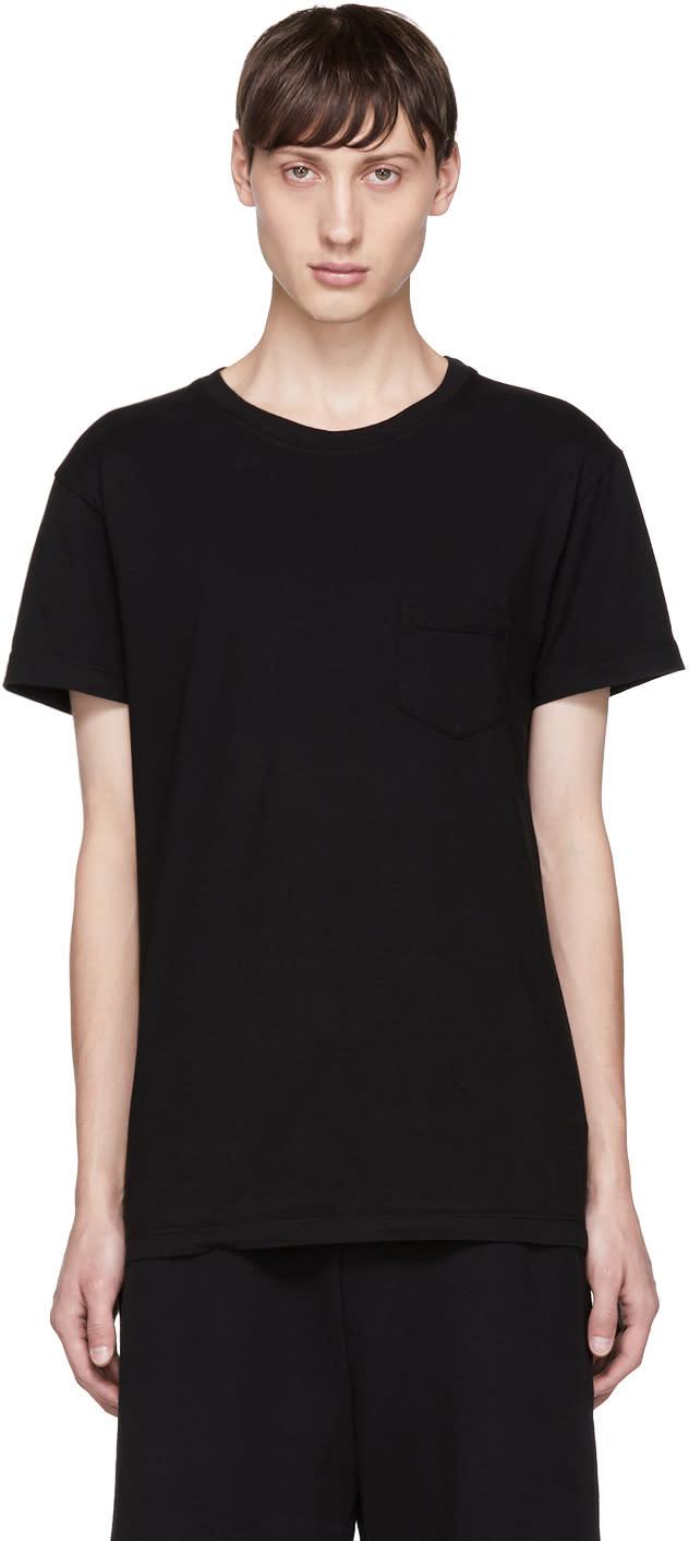 Image of John Elliott Black Oversize Pocket T-shirt