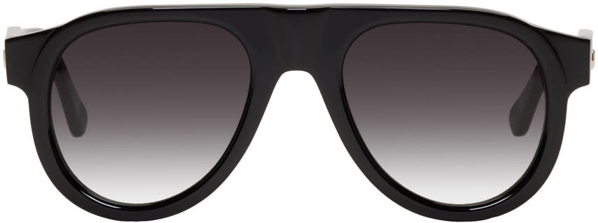 Image of Tom Wood Black Duke Aviator Sunglasses