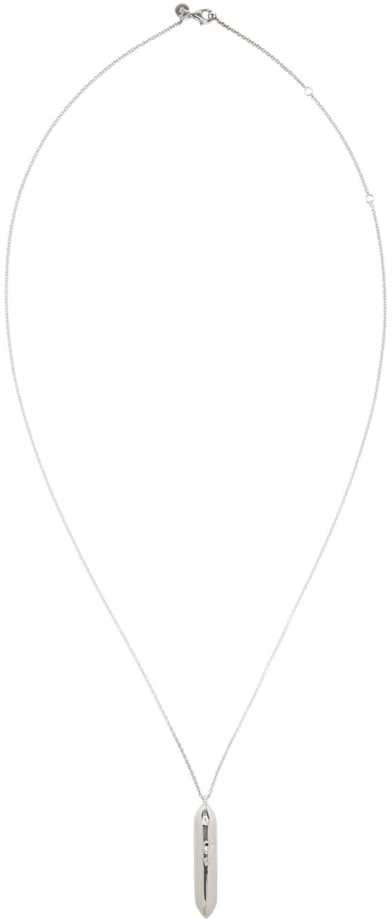 Image of Tom Wood Silver Large Bullet Necklace