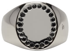 Image of Tom Wood Silver Picky Spinel Circle Ring