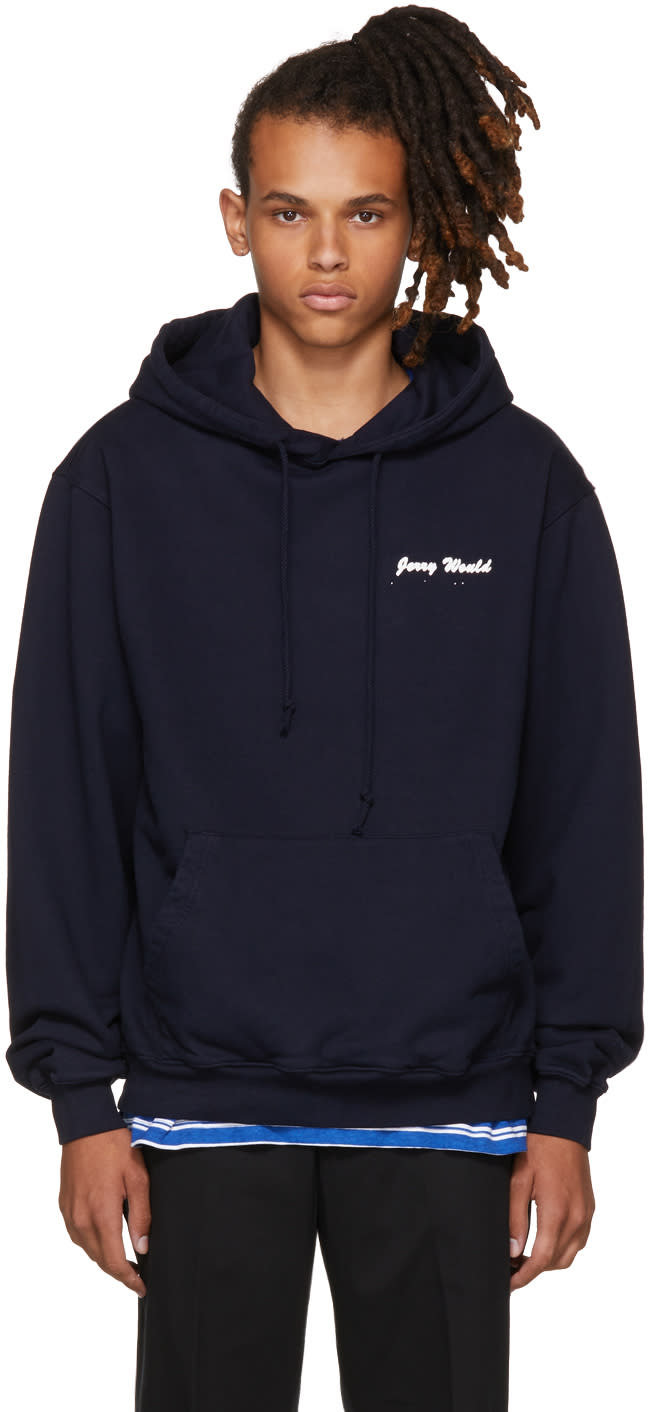 Image of Noon Goons Navy jerry Would Hoodie