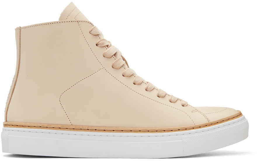 Image of No.288 Beige Mulberry High-top Sneakers