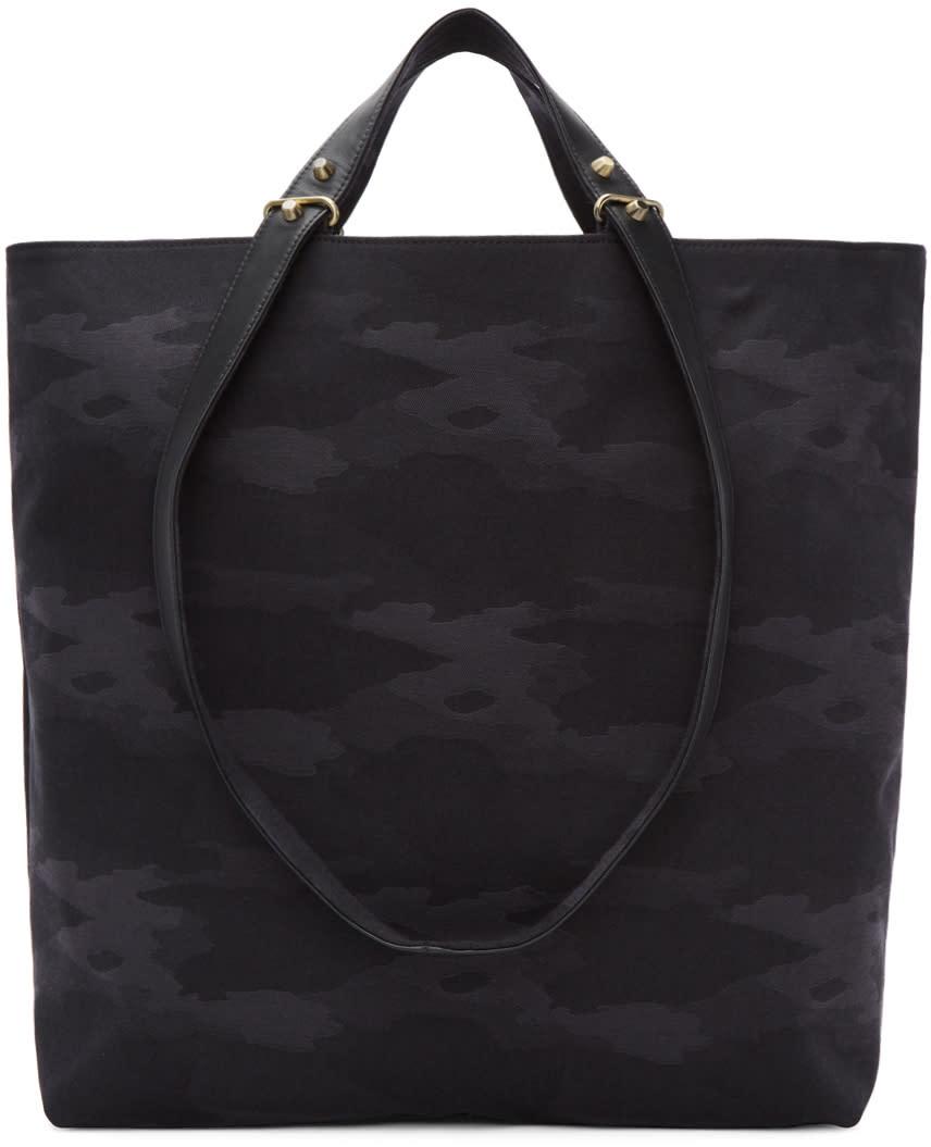 Image of Haerfest Black Camo Canvas Tote Bag