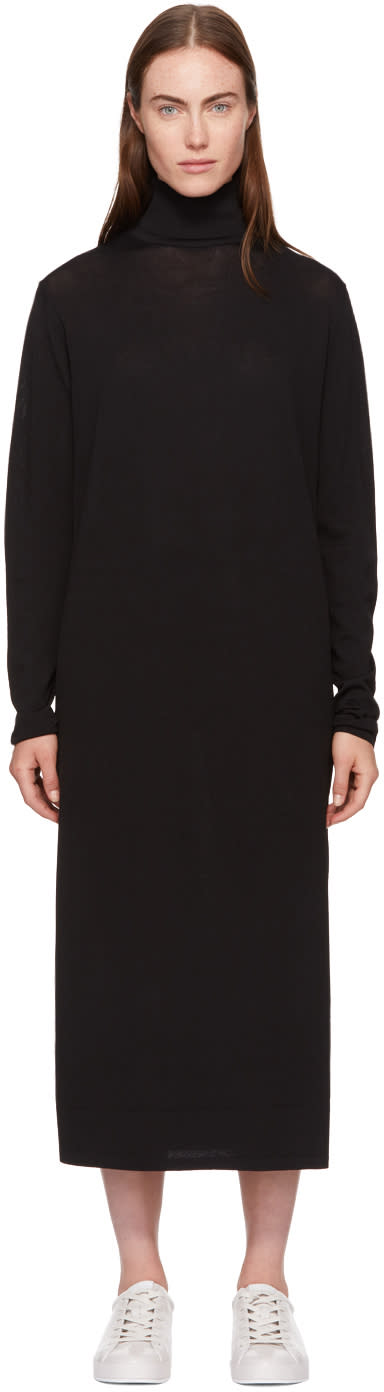 Image of Totême Black Cabrol Turtleneck Dress