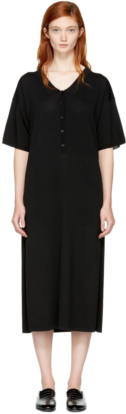 Image of Totême Black Belize Polo Dress
