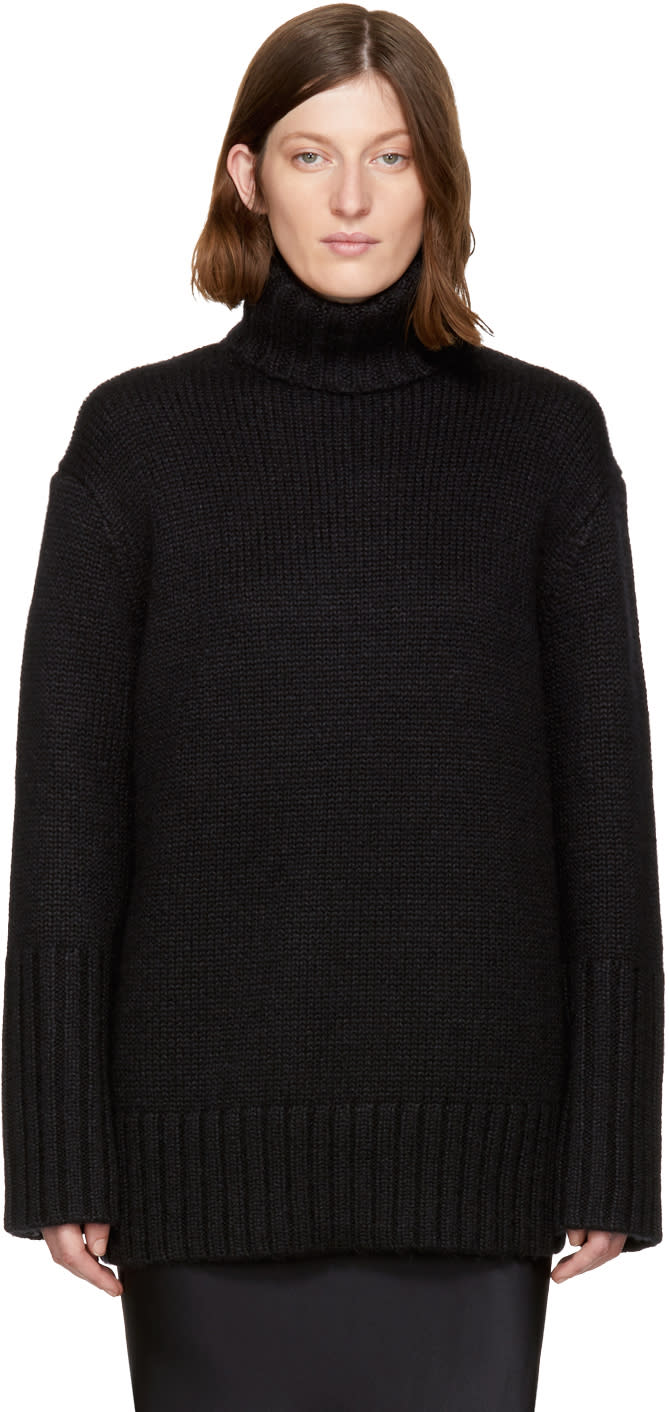 Image of Protagonist Black 44 Oversized Turtleneck