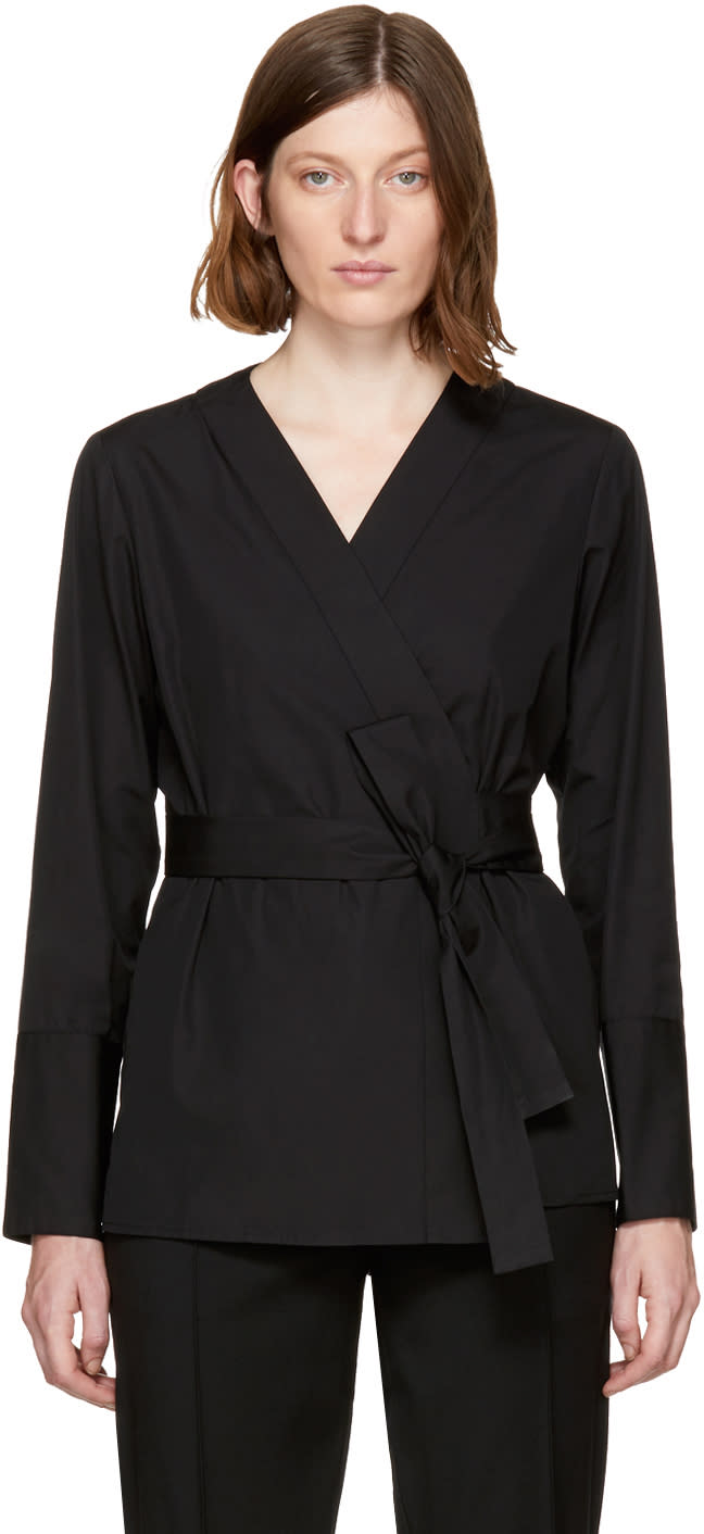 Image of Protagonist Black 59 Wrap Blouse