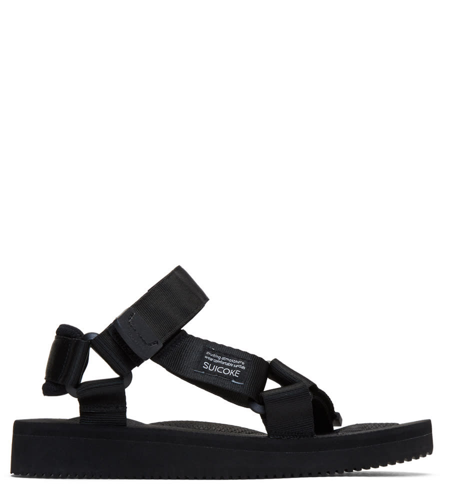 Image of Suicoke Black Depa-c Sandals