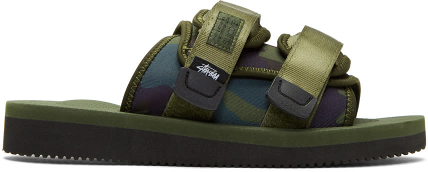 Suicoke Green Stussy Edition Moto Sandals