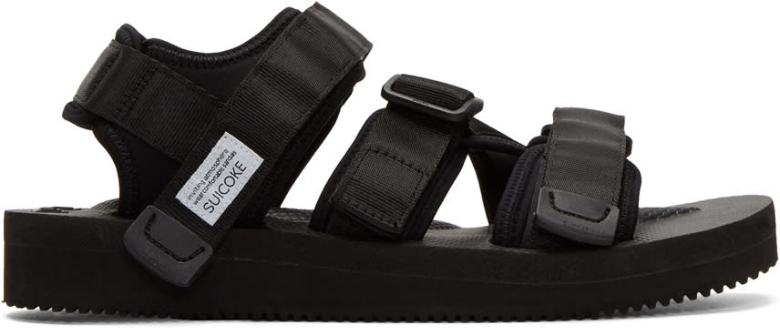 Image of Suicoke Black Kisee-v Sandals