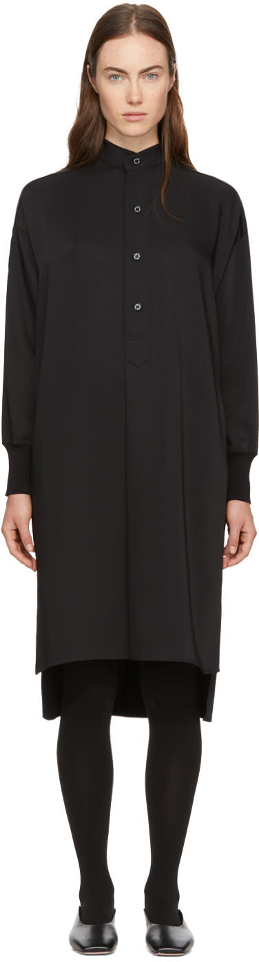 Image of Hyke Black Long Shirt Dress