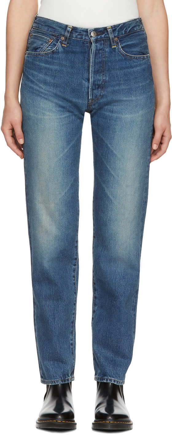 Image of Hyke Blue Classic Straight Jeans