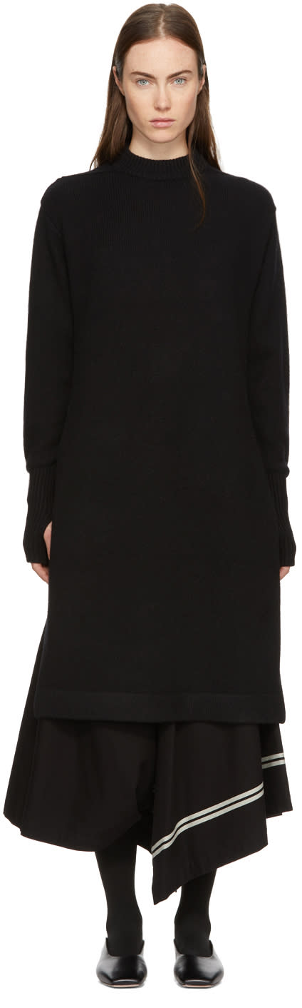 Image of Hyke Black Crewneck Sweater Dress