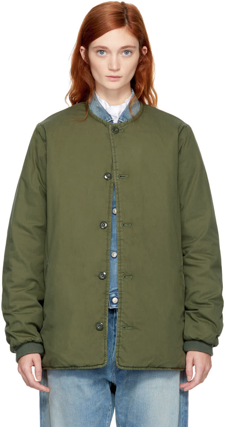 Image of Chimala Green Military Padded Jacket