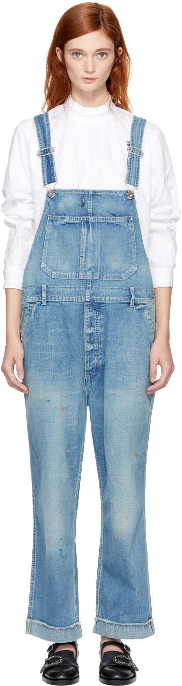 Image of Chimala Indigo Denim Overalls