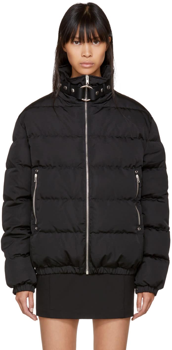 Image of Alyx Black Down Bondage Neck Puffer Coat