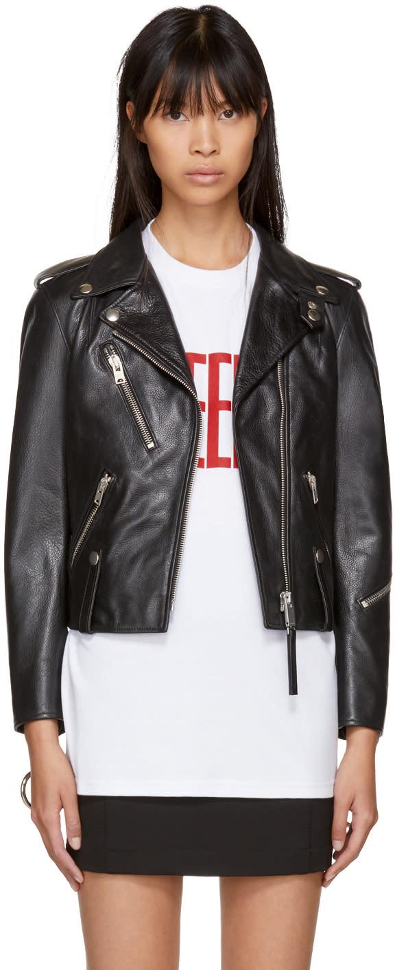 Alyx Black Leather Biker Jacket