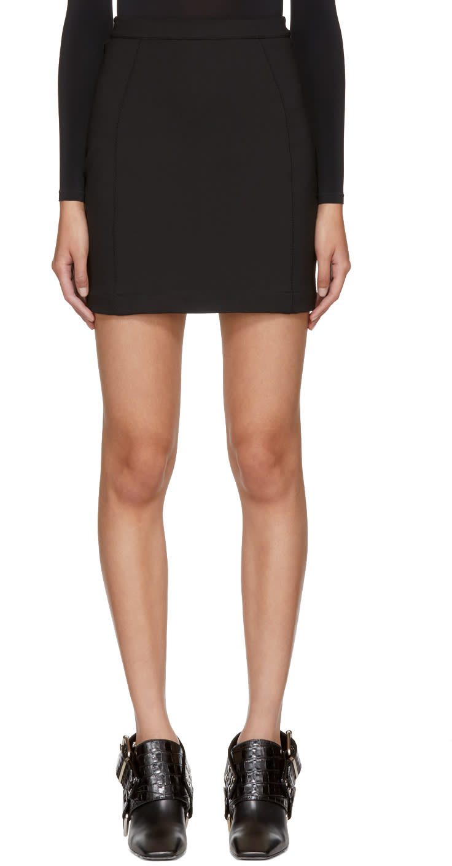 Image of Alyx Black Stretch Jersey Miniskirt