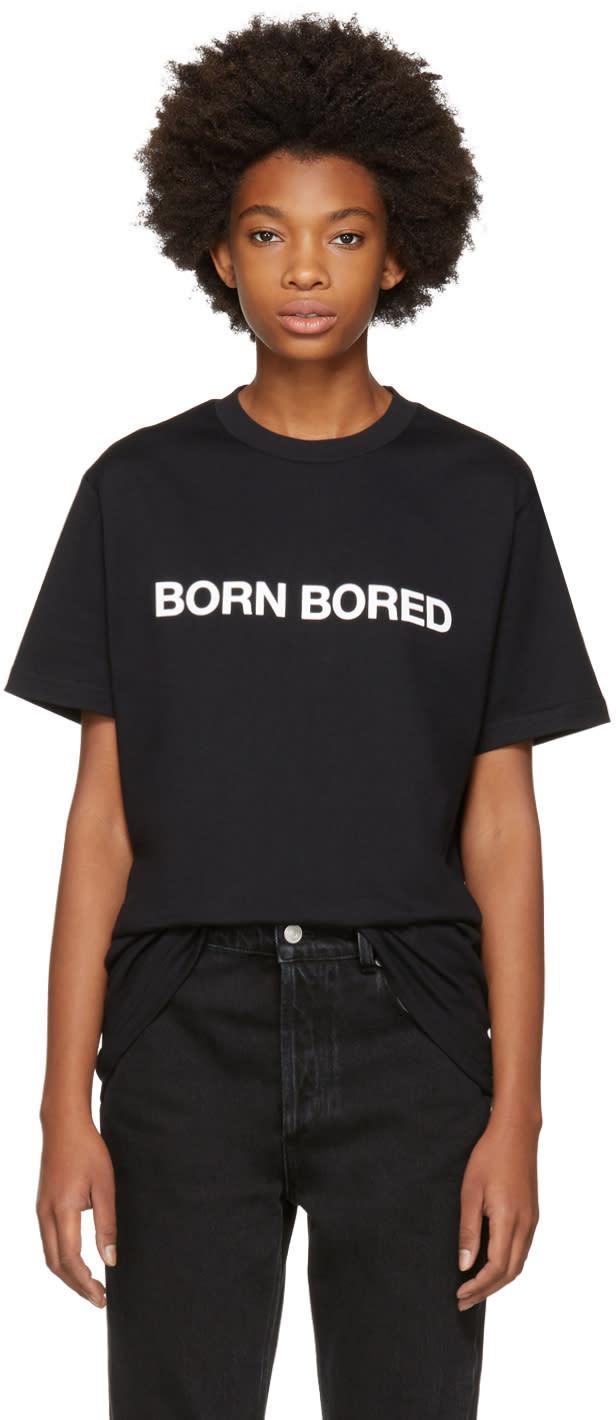 Alyx T-shirt Noir born Bored Exclusif à Ssense