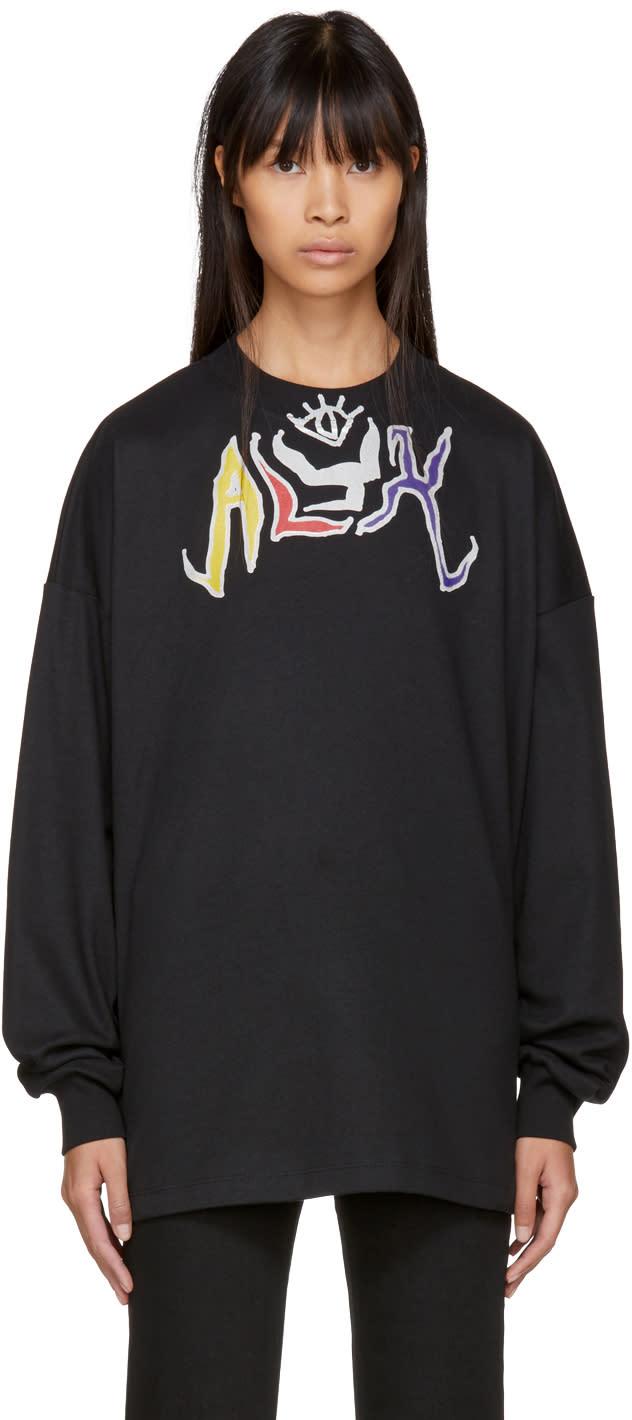 Image of Alyx Black Long Sleeve Graffiti T-shirt