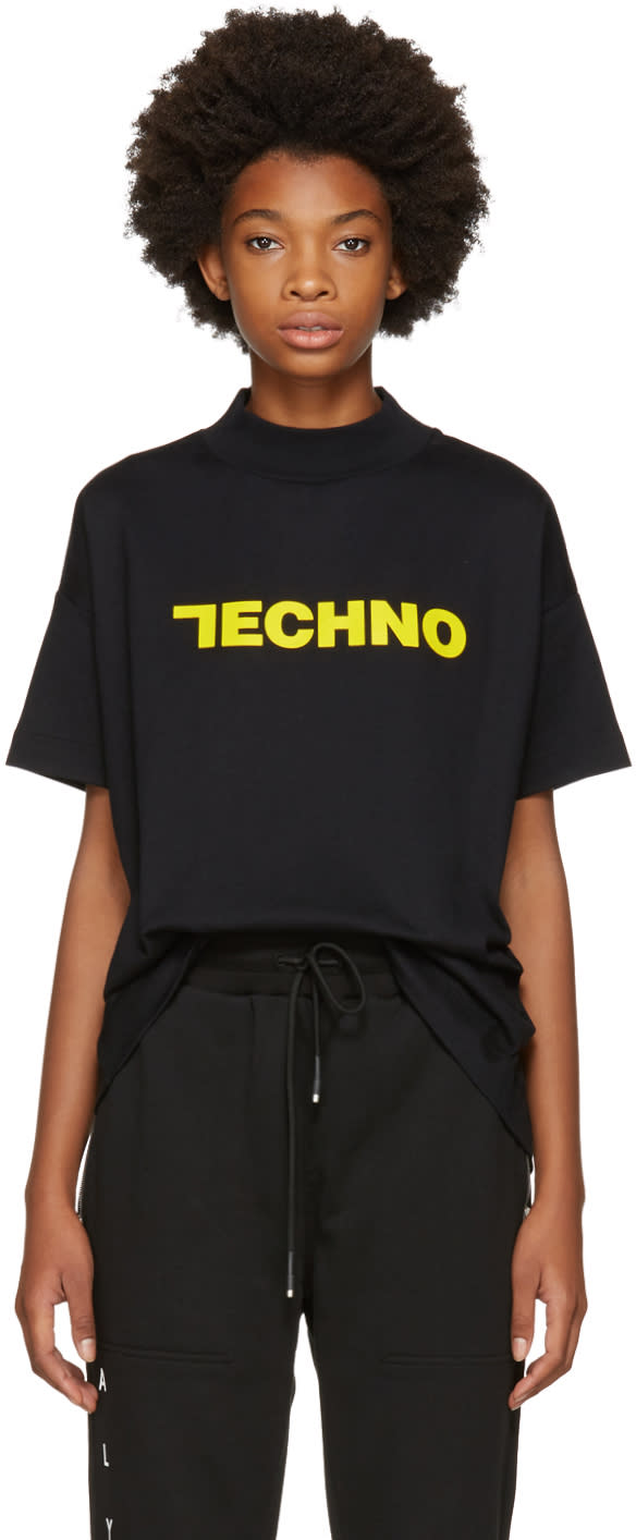 Image of Alyx Ssense Exclusive Black techno Mock Neck T-shirt