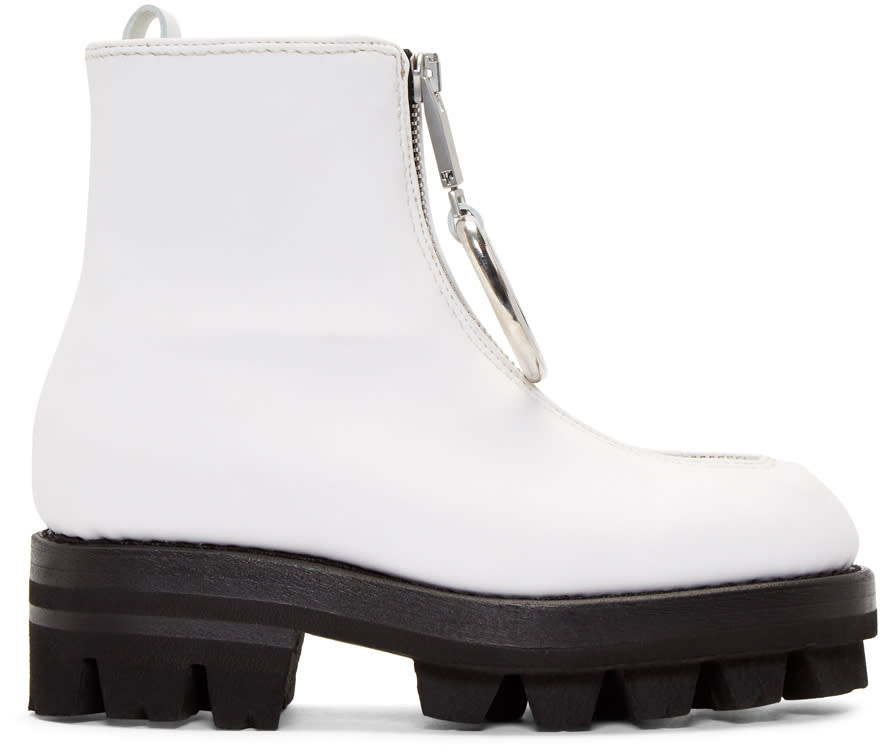 Image of Alyx White D-ring Tank Boots
