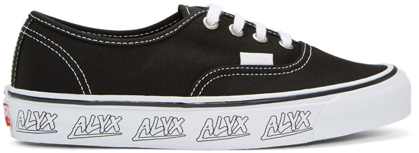 Image of Alyx Black Vans Edition Og Authentic Lx Sneakers