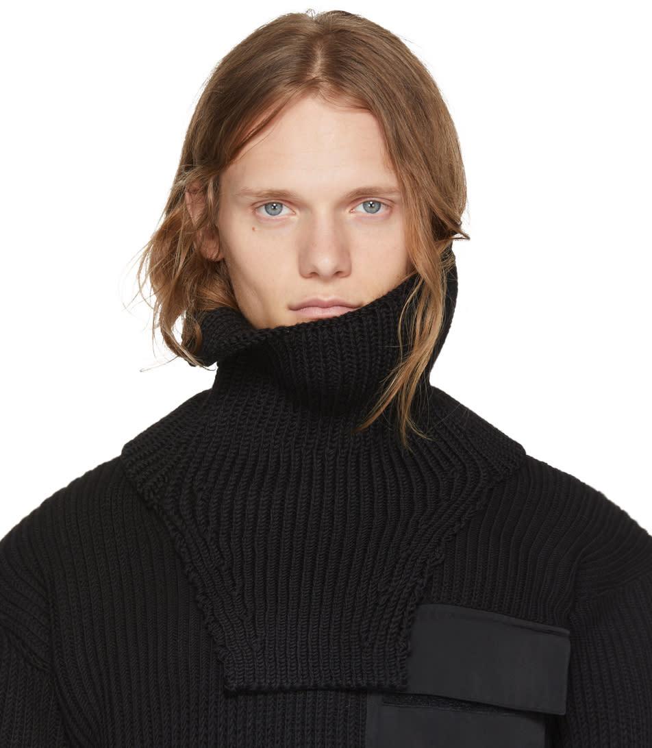 Image of Alyx Black Wool Neck Warmer