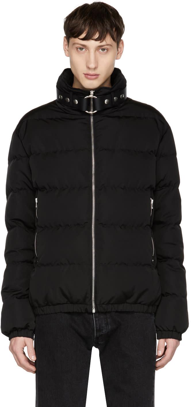 Image of Alyx Black Bondage Collar Puffer Jacket