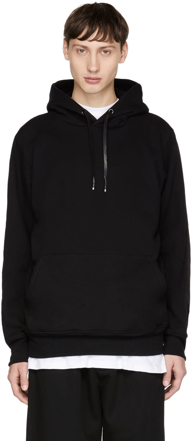 Image of Alyx Black Elbow Patch Hoodie