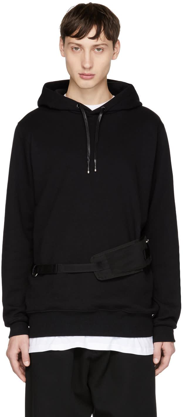 Image of Alyx Black Utility Waist Belt Hoodie