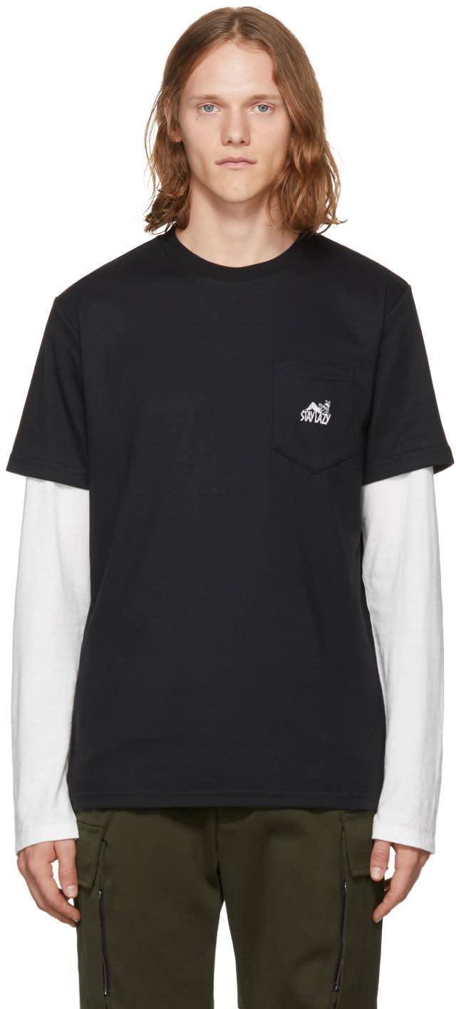Image of Alyx Black stay Lazy Pocket T-shirt