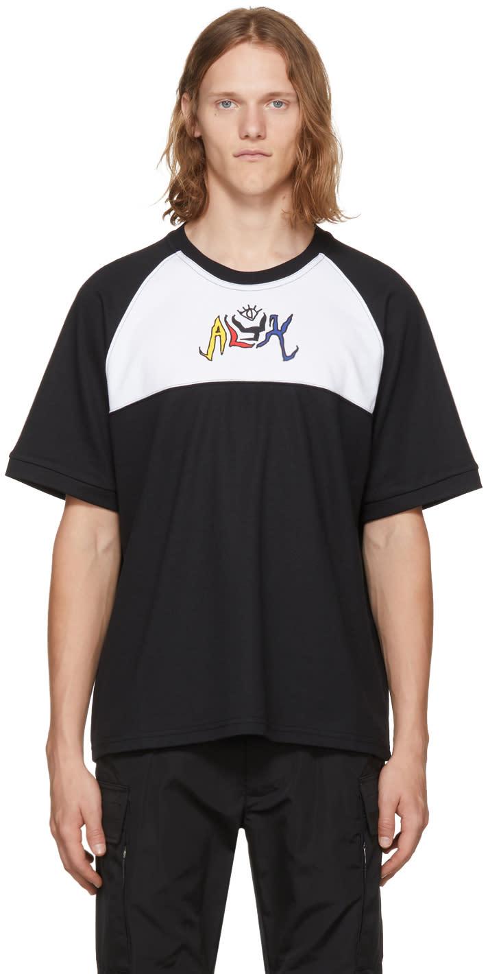 Image of Alyx Black and White Graffiti Logo T-shirt