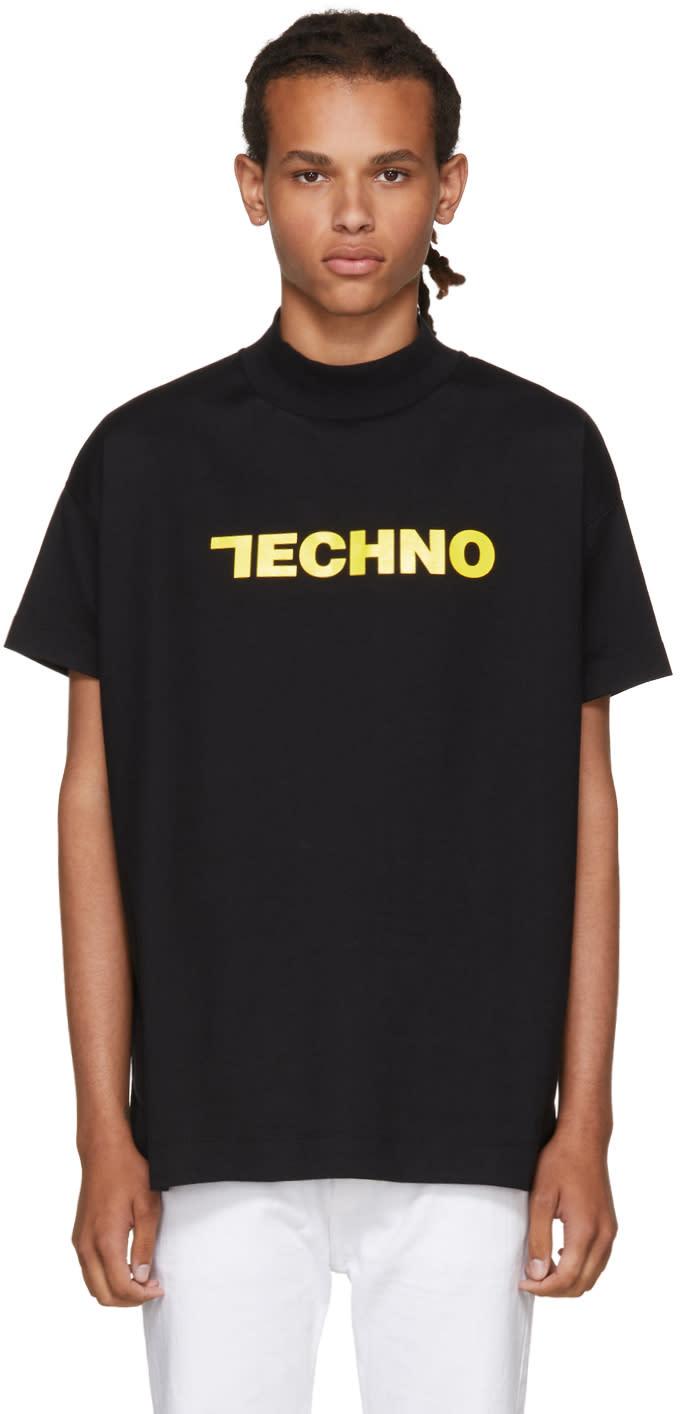 Image of Alyx Ssense Exclusive Black techno T-shirt