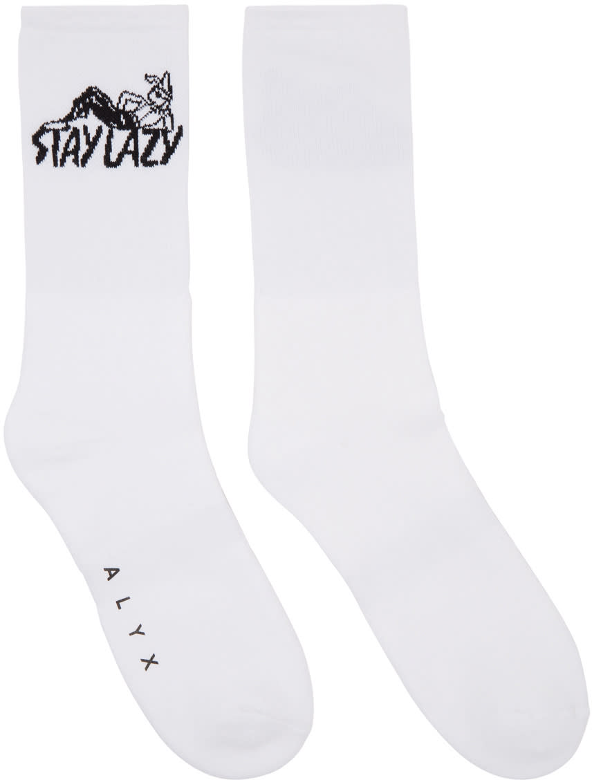 Image of Alyx White stay Lazy Socks