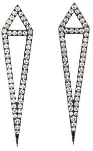 Image of Eva Fehren Black Gold Diamond Dagger Stud Earrings