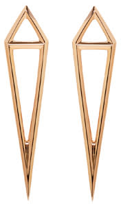 Image of Eva Fehren Rose Gold Dagger Stud Earrings