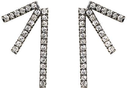 Image of Eva Fehren Black Gold Diamond Sputnik 3 Earrings