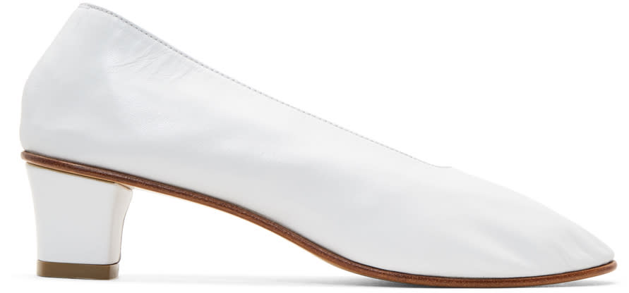 Image of Martiniano White High Glove Heels