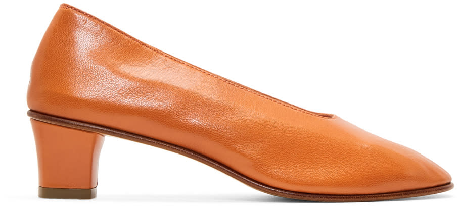 Image of Martiniano Orange High Glove Heels